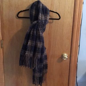 Aeropostale Plaid Blue Scarf